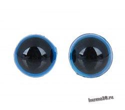 Глазки для игрушек на безопасном креплении цвет голубой 1,2 см. 2 шт. арт. 1553375