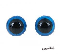Глазки для игрушек на безопасном креплении цвет голубой 1,3 см. 2 шт. арт. 1553378