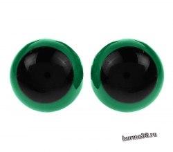 Глазки для игрушек на безопасном креплении цвет зеленый 1,3 см. 2 шт. арт. 1553380