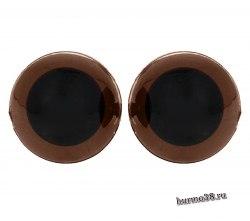 Глазки для игрушек на безопасном креплении цвет коричневый 1,8 см. 2 шт. арт. 1553388