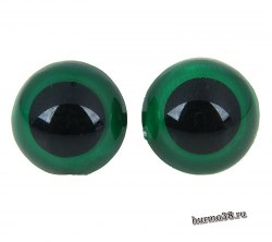 Глазки для игрушек на безопасном креплении цвет зеленый 1,8 см. 2 шт. арт. 1553392