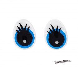 Глазки для игрушек на безопасном креплении цвет голубой 2 шт. 1,3*1 см арт. 1553411