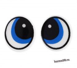 Глазки для игрушек на безопасном креплении 2 шт. 1,7×1,5 см. арт. 1553418
