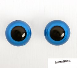Глазки для игрушек на безопасном креплении цвет голубой 2 шт. 2,2 см. арт. 3783454