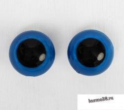 Глазки для игрушек на безопасном креплении цвет голубой 2 шт. 2,6 см. арт. 3783456