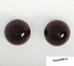 Глазки для игрушек на безопасном креплении цвет коричневый 2 шт. 2,2 см. арт. 3783458