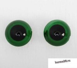 Глазки для игрушек на безопасном креплении цвет зеленый 2 шт. 2,2 см. арт. 3783462