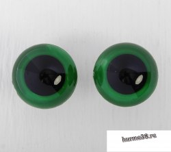 Глазки для игрушек на безопасном креплении цвет зеленый 2 шт. 2,6 см. арт. 3783464
