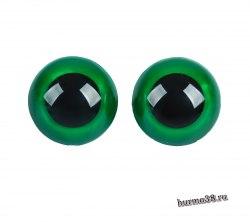 Глазки для игрушек на безопасном креплении цвет зеленый 2 шт. 3 см. арт. 3783465