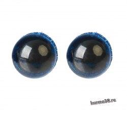 Глазки для игрушек на безопасном креплении цвет синий 2 шт. 1.2 см. арт. 4312207