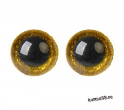 Глазки для игрушек на безопасном креплении цвет жёлтый 2 шт. 1.6 см. арт. 4312220