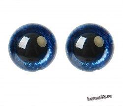 Глазки для игрушек на безопасном креплении цвет синий 2 шт. 1.8 см. арт. 4312222