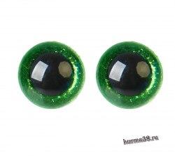 Глазки для игрушек на безопасном креплении цвет зелёный 2 шт. 2 см. арт.4312229
