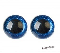 Глазки для игрушек на безопасном креплении цвет синий 2 шт. 3 см. арт.4312251