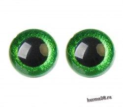 Глазки для игрушек на безопасном креплении цвет зелёный 2 шт. 3 см. арт.4312253