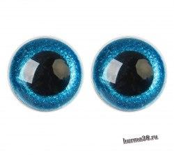Глазки для игрушек на безопасном креплении цвет голубой 2 шт. 3 см. арт.4312255