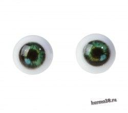 Глазки для игрушек на безопасном креплении 2 шт. цвет зелёный 1.2 см. арт.4380017