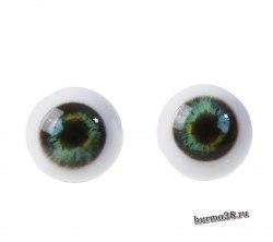Глазки для игрушек на безопасном креплении 2 шт. цвет зелёный 1.4 см. арт.4380018