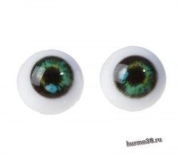 Глазки для игрушек на безопасном креплении 2 шт. цвет зелёный 1.6 см. арт.4380019