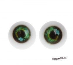 Глазки для игрушек на безопасном креплении 2 шт. цвет зелёный 2 см. арт.4380021