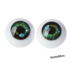 Глазки для игрушек на безопасном креплении 2 шт. цвет зелёный 2.2 см. арт.4380022
