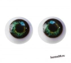 Глазки для игрушек на безопасном креплении 2 шт. цвет зелёный 2.6 см. арт.4380024