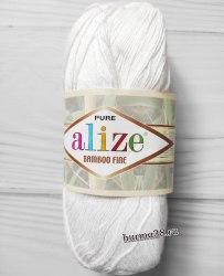 Пряжа Ализе Бамбу Файн (Alize Bamboo Fine) 55 белый