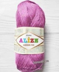 Пряжа Ализе Бамбу Файн (Alize Bamboo Fine) 46 ярко-розовый