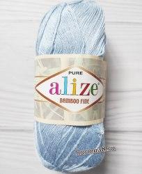 Пряжа Ализе Бамбу Файн (Alize Bamboo Fine) 481 светло-голубой