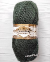 Пряжа Ализе Ангора Голд (Alize Angora Gold) 131 лесная зелень