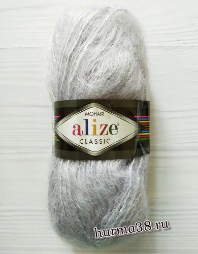 Пряжа Ализе Мохер Классик Нью (Alize Mohair Classic New) 52 светло-серый