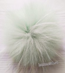 Помпон из енота (18-20см) цвет мята