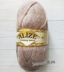 Пряжа Ализе Ангора Голд (Alize Angora Gold) 163 серая роза