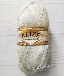 Пряжа Ализе Ангора Голд (Alize Angora Gold) 208 светло-серый меланж