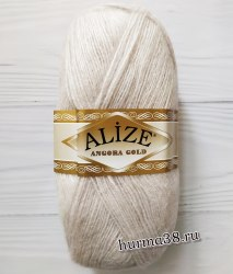 Пряжа Ализе Ангора Голд (Alize Angora Gold) 168 белая зима
