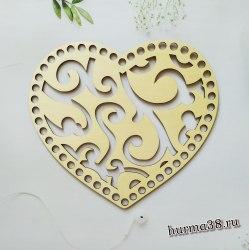 Крышка для корзин ажурное сердце 21*18 см.