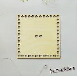 Крышка для корзин квадрат с отверстиями для ручки 15 см.