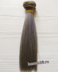 Волосы (трессы) кукольные прямые 15см цвет угольно-синий омбре