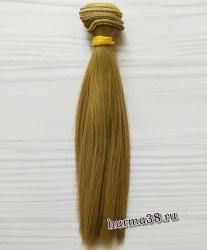 Волосы (трессы) кукольные прямые 15см цвет пепельно-русый
