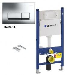 Инсталляция для унитаза Geberit Duofix с кнопкой смыва Delta 51