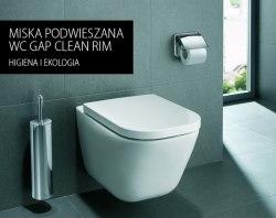Акция Унитаз подвесной Roca The Gap Clean Rim безободковый с крышкой