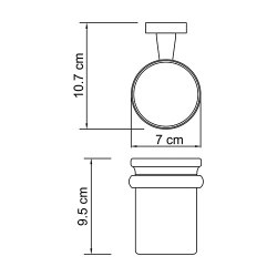 Стакан для зубных щеток стеклянный Wasserkraft К-6528