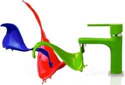 Смеситель для раковины Teka Aura синий, зеленый, красный