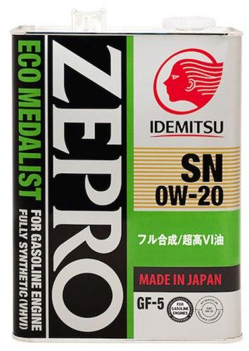 Моторное Масло 0W-20 SN, ILSAC GF-5 4L