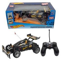 Hot Wheels багги на р/у,1:20, cо светом и звуком, скорость 19км/ч, чёрная 1Toy Т10979