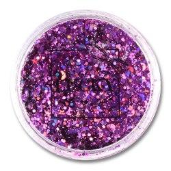 Lucky гель-блестки д тела/лица, в наборе с кисточкой, цвет: фиолетовый, на блистере, объем 25 мл. Т11925