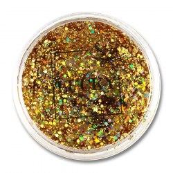 Lucky гель-блестки д тела/лица, в наборе с кисточкой, цвет: золото, на блистере, объем 25 мл. Т11928