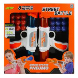 Игрушечное оружие Street Battle с мягкими шариками 2 пистолета 24 шарика 1Toy Т13651