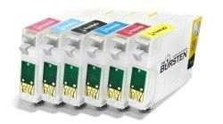 Нано-картриджи BURSTEN 2- го поколения SC10 для принтеров EPS T50 (T811N - T816N) x6, с патентованны
