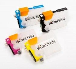 Нано-картриджи BURSTEN 2- го поколения SC10 для принтеров EPS TX200 (T731N - T734N) x4, с патентован